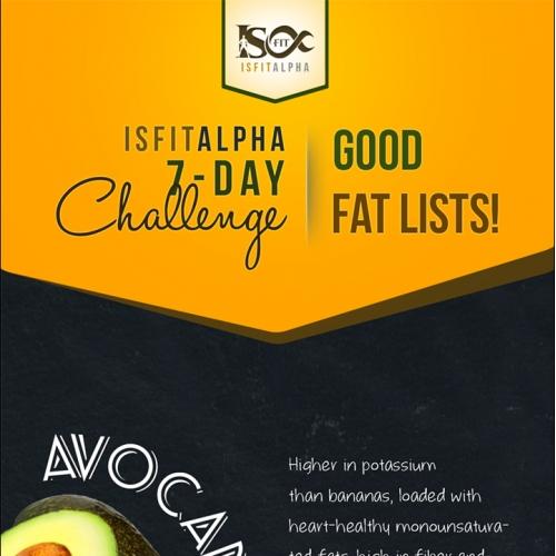 ISFit Infographics Good Fats Lists