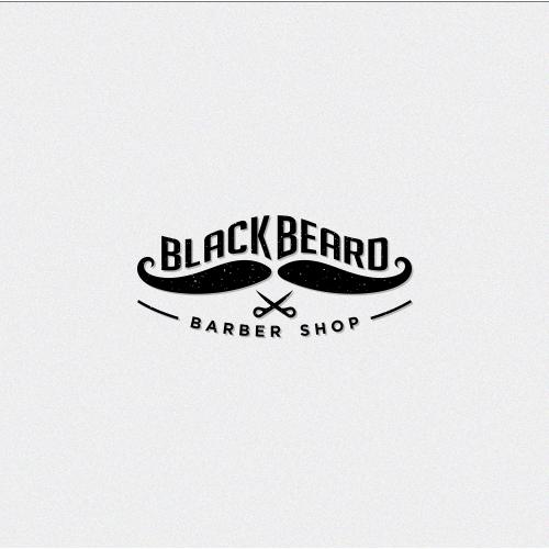 Black Beard Barber Shop Logo Design